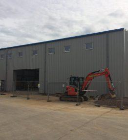 steel portal framed Machine shop